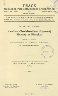 Kuklice (Tachinoidea, Diptera) Moravy a Slezska