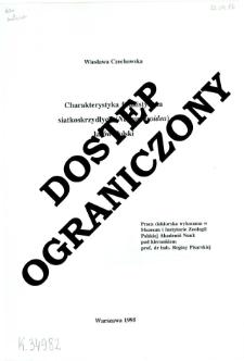Charakterystyka faunistyczna siatkoskrzydłych (Neuropteroidea) lasów Polski