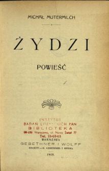 Żydzi : powieść