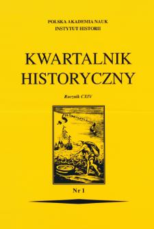 """Kwartalnik Historyczny R. 114 nr 1 (2007), Bibliografia zawartości czasopisma """"Kwartalnik Historyczny"""" za lata 1887-2004, Cz. 1"""