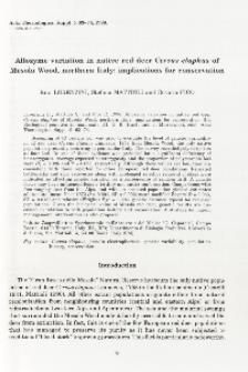 Allozyme variation in native red deer Cervus elaphus of Mesola Wood, northern Italy: implications for conservation