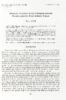 Allozymic variation in the European polecat Mustela putorius from western France