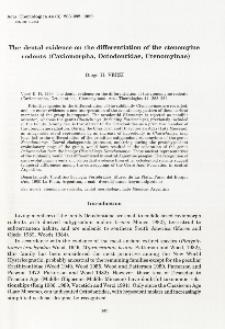 The dental evidence on the differentiation of the ctenomyine rodents (Caviomorpha, Octodontidae, Ctenomyinae)