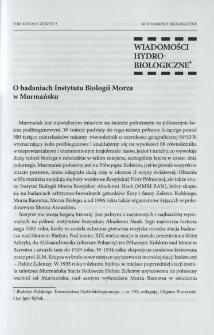 O badaniach Instytutu Biologii Morza w Murmańsku