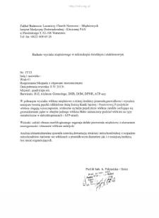 Kartoteka przypadków klinicznych chorób nerwowo-mięśniowych (2013) - opis nr 17/13