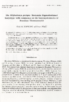 The Wilfredomys pictipes (Rodentia: Sigmodontinae) karyotype with comments on the karyosystematics of Brazilian Thomasomyini