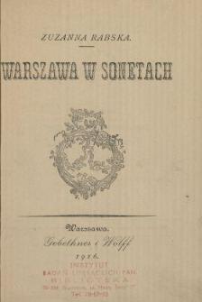 Warszawa w sonetach
