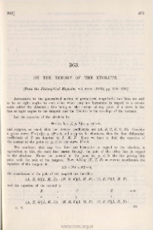On the theory of the Evolute