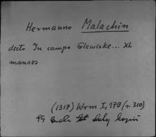 Kartoteka Słownika staropolskich nazw osobowych; Mal - Mał