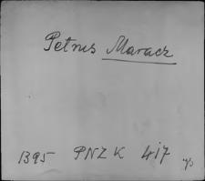 Kartoteka Słownika staropolskich nazw osobowych; Mar