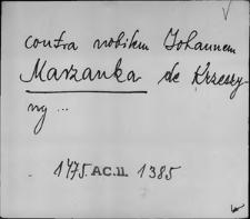 Kartoteka Słownika staropolskich nazw osobowych; Mar - Mas