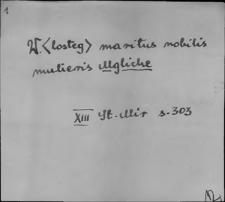 Kartoteka Słownika staropolskich nazw osobowych; Mg - Mi