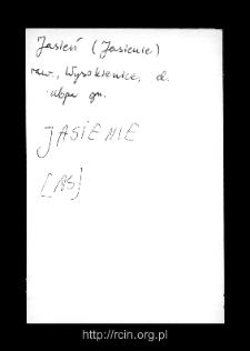 Jasień I. Kartoteka powiatu rawskiego w średniowieczu. Kartoteka Słownika historyczno-geograficznego Mazowsza w średniowieczu