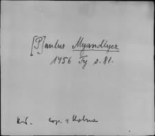 Kartoteka Słownika staropolskich nazw osobowych; Mię - Mig