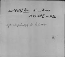 Kartoteka Słownika staropolskich nazw osobowych; Mir - Mis