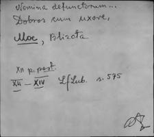 Kartoteka Słownika staropolskich nazw osobowych; Mo - Mor-