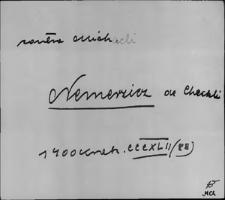 Kartoteka Słownika staropolskich nazw osobowych; Niem - Nik