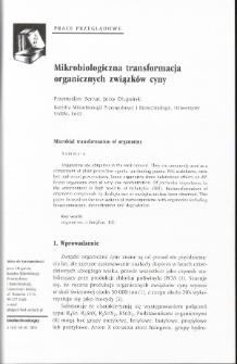 Microbial transformation of organotins