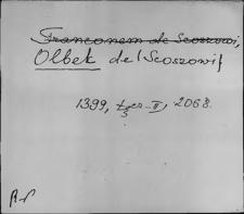Kartoteka Słownika staropolskich nazw osobowych; Olb - Orze-