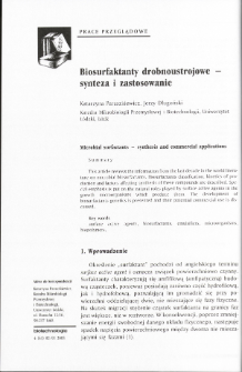 Microbial surfactants - synthesis and commercial applications