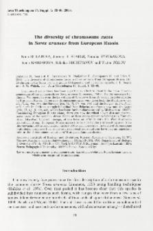 The diversity of chromosome races in Sorex araneus from European Russia