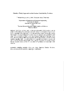Genetic - fuzzy approach to the boolean satisfiability problem