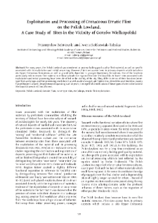 Exploitation and Processing of Cretaceous Erratic Flint on the Polish Lowland. A Case Study of Sites in the Vicinity of Gorzów Wielkopolski