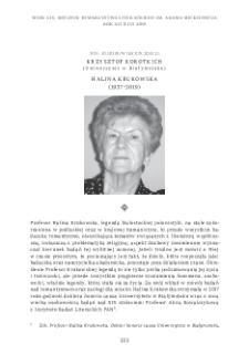 Halina Krukowska (1937–2019)