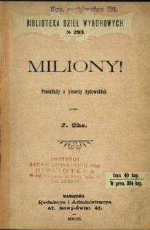 Miliony! : powieść giełdowa w liścikach