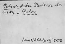 Kartoteka Słownika staropolskich nazw osobowych; Piotr (c.d.) - Pyt