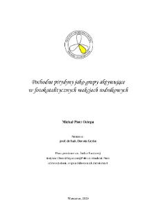 Pochodne pirydyny, jako grupy aktywujące w fotokatalitycznych reakcjach rodnikowych