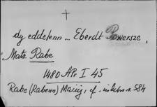 Kartoteka Słownika staropolskich nazw osobowych; Rab - Rzy