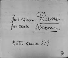 Kartoteka Słownika staropolskich nazw osobowych; Ram - Rąg