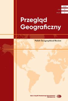 Przegląd Geograficzny T. 92 z. 2 (2020), Spis treści