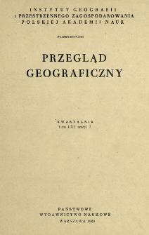 Przegląd Geograficzny T. 61 z. 3 (1989)