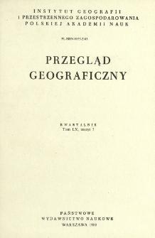Przegląd Geograficzny T. 60 z. 3 (1988)