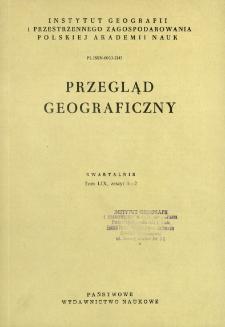 Przegląd Geograficzny T. 59 z. 1-2 (1987)
