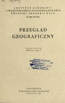 Przegląd Geograficzny T. 54 z. 4 (1982)