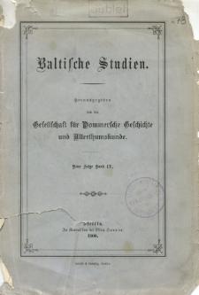 Baltische Studien. Neue Folge Bd. 4 (1900)