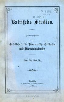 Baltische Studien. Neue Folge Bd. 6 (1902)
