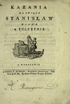 Kazania Na Swięty Stanisław Miane w Tulczynie
