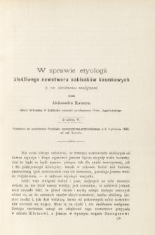 W sprawie etyologii złośliwego nowotworu nabłonków kosmkowych (t. zw. decidnoma malignum)