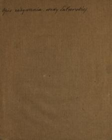 Opis Zażywania i skutkow gorzkiey wody Salcerskiey, Ktorey dostać można w Warszawie u Jmci Pana Nahke, Kassyera Saskiego [...]