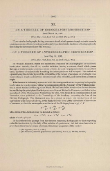 On Theorems of Hodographic and Anthodographic Isochronism. (1847)