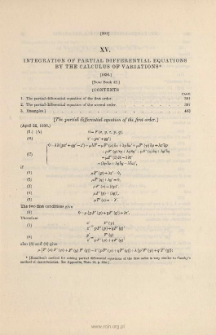 Integration of Partial Differential Equations by the Calculus of Variations. (1836)