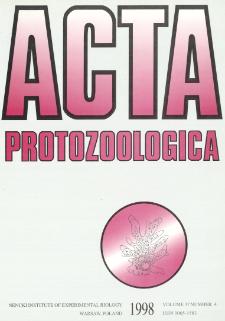 Acta Protozoologica, Vol. 37, Nr 4 (1998)