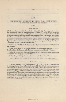 Researches respecting Vibration connected with the Theory of Light. (1839)