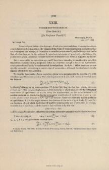 Correspondence. (1835-39)
