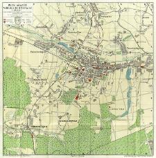 Plan miasta wielkich Katowic i okolic