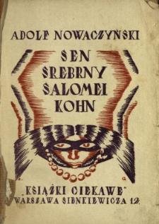 Sen srebrny Salomei Kohn